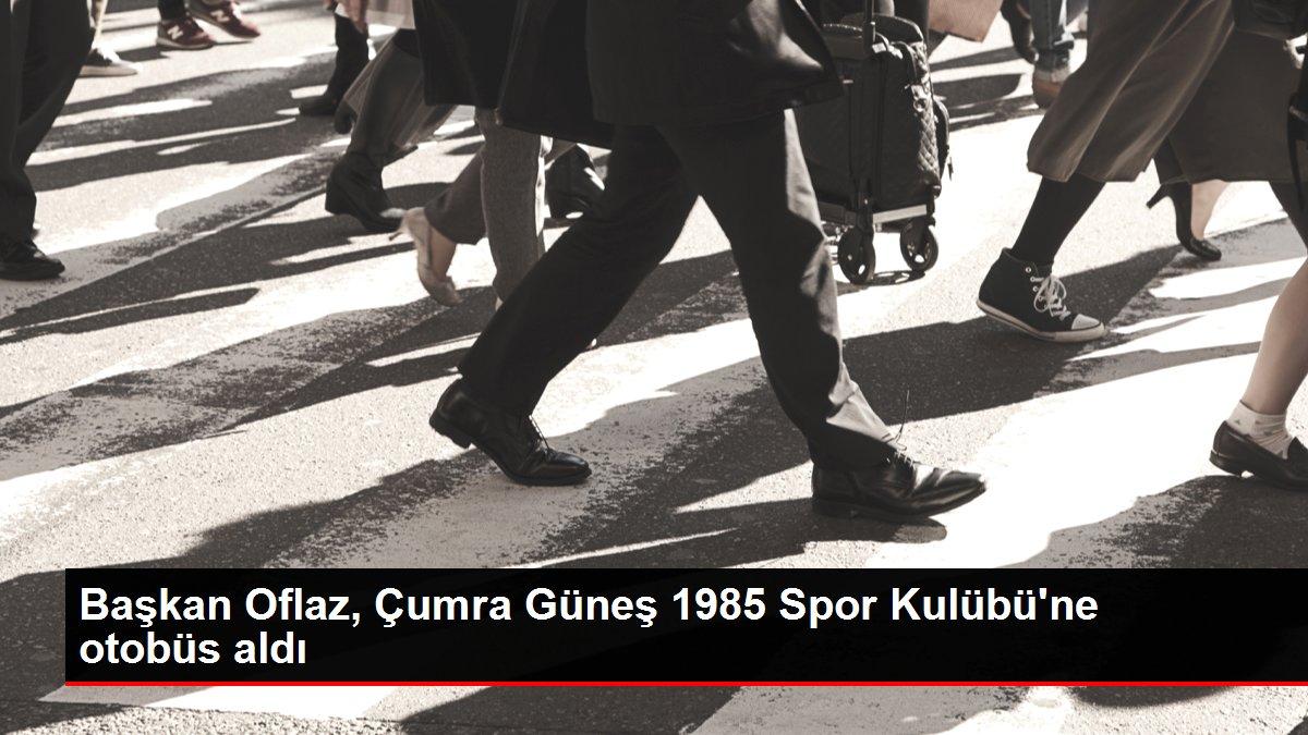Başkan Oflaz, Çumra Güneş 1985 Spor Kulübü'ne otobüs aldı