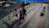 Motosikletlinin metrelerce sürüklendiği kaza kamerada