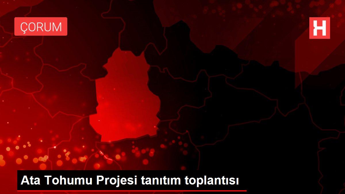 Ata Tohumu Projesi tanıtım toplantısı