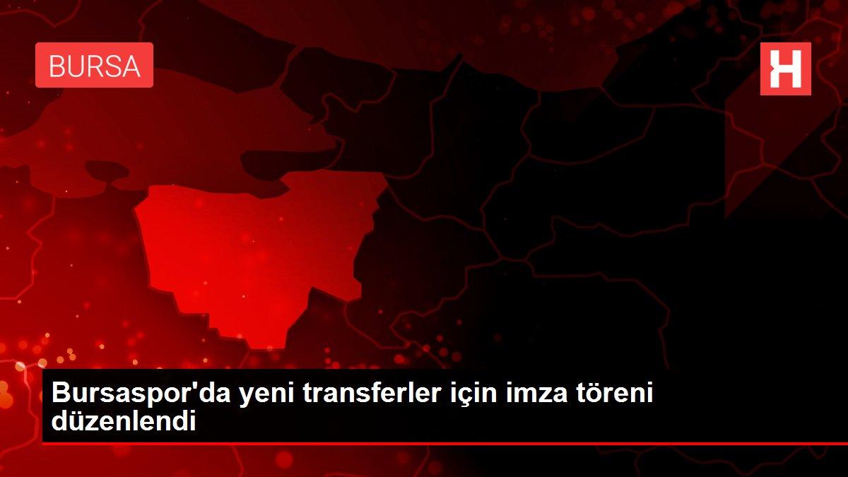 Bursaspor'da yeni transferler için imza töreni düzenlendi