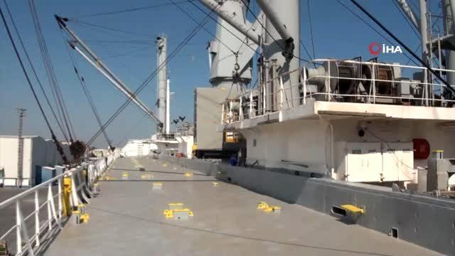 Muz yüklü gemide 83 kilo kokain ele geçirildi