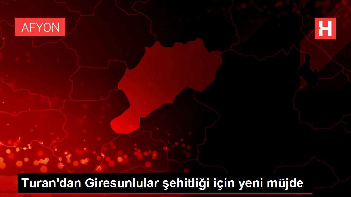 Turan'dan Giresunlular şehitliği için yeni müjde