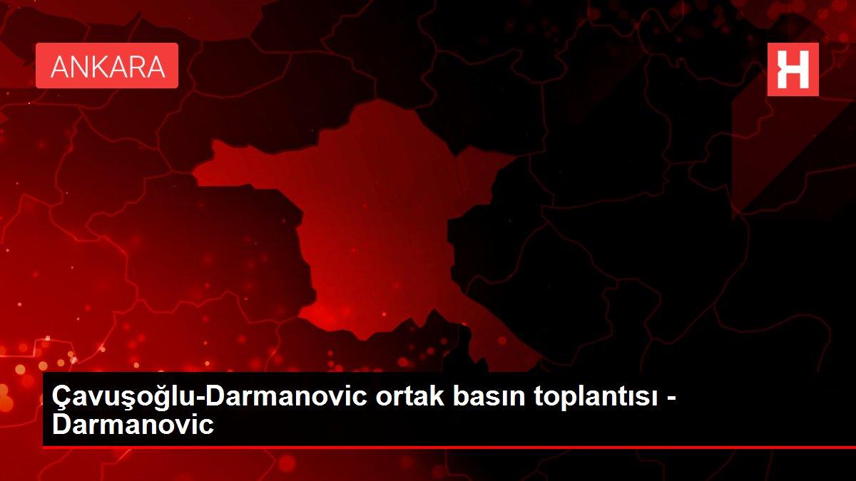 Çavuşoğlu-Darmanovic ortak basın toplantısı - Darmanovic