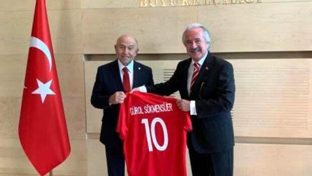 TFF Başkanı Nihat Özdemir'den Kişinev Büyükelçisi'ne ziyaret