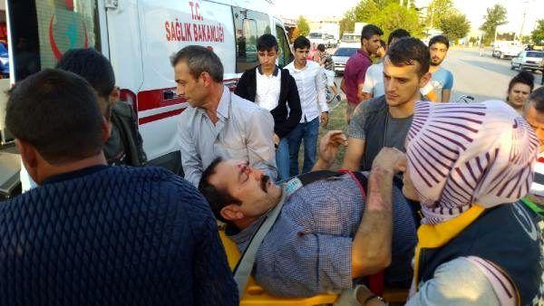 Tır'ın çarptığı bisikletin sürücüsü ağır yaralandı