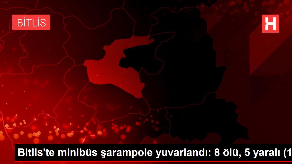 Bitlis'te minibüs şarampole yuvarlandı: 8 ölü, 5 yaralı (1)
