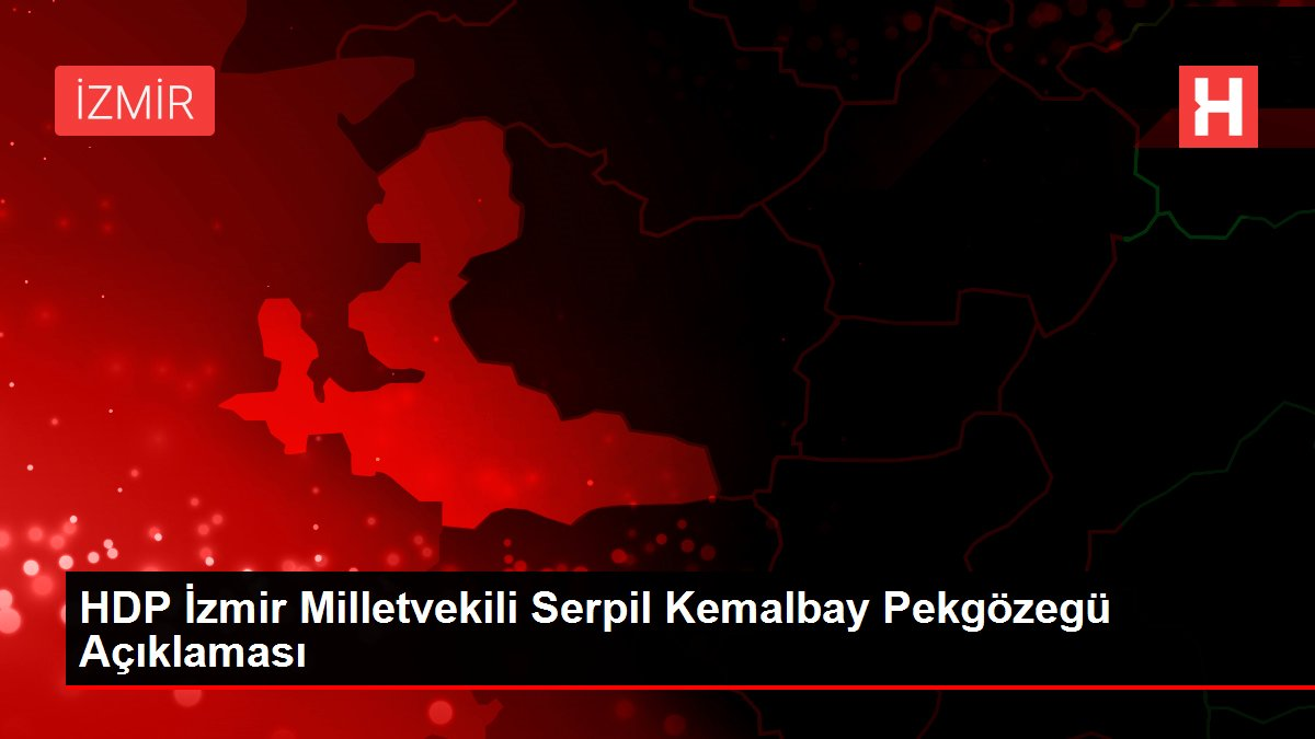 HDP İzmir Milletvekili Serpil Kemalbay Pekgözegü Açıklaması