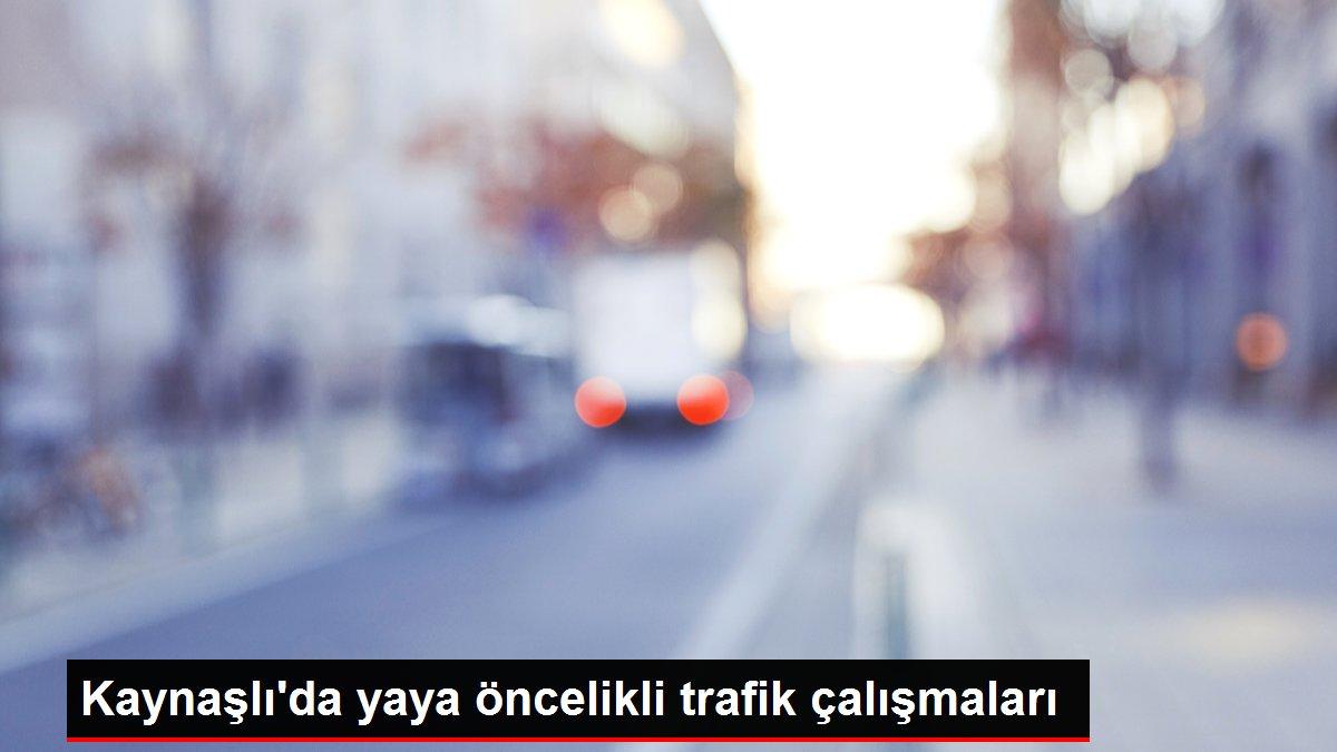 Kaynaşlı'da yaya öncelikli trafik çalışmaları