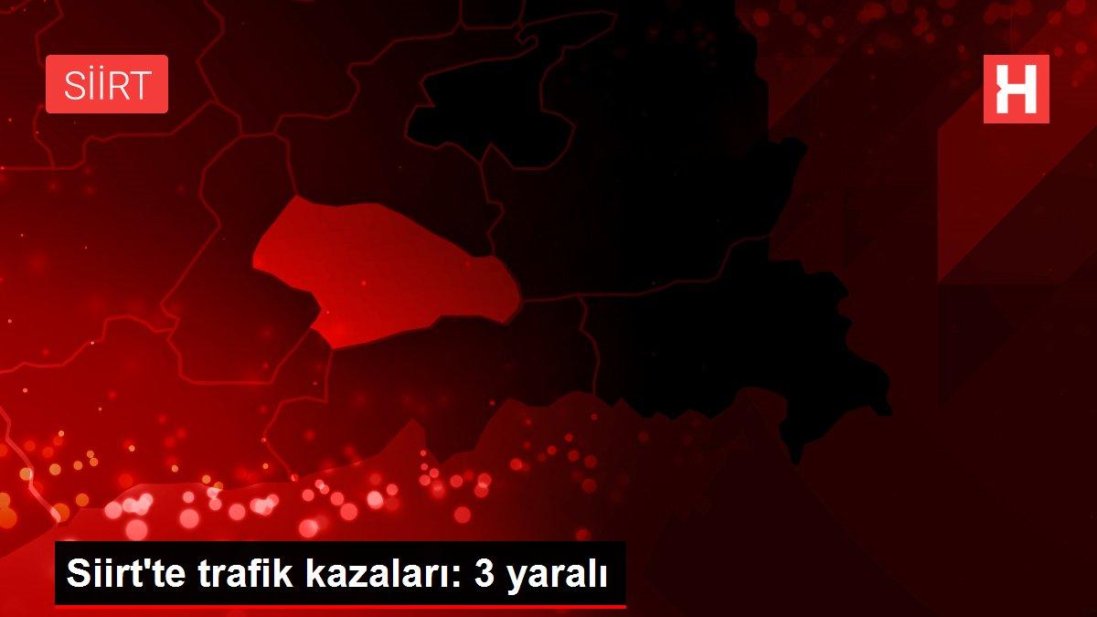 Siirt'te trafik kazaları: 3 yaralı