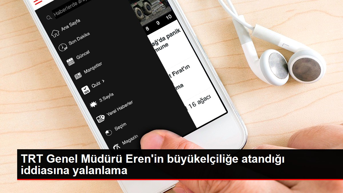 TRT Genel Müdürü Eren'in büyükelçiliğe atandığı iddiasına yalanlama