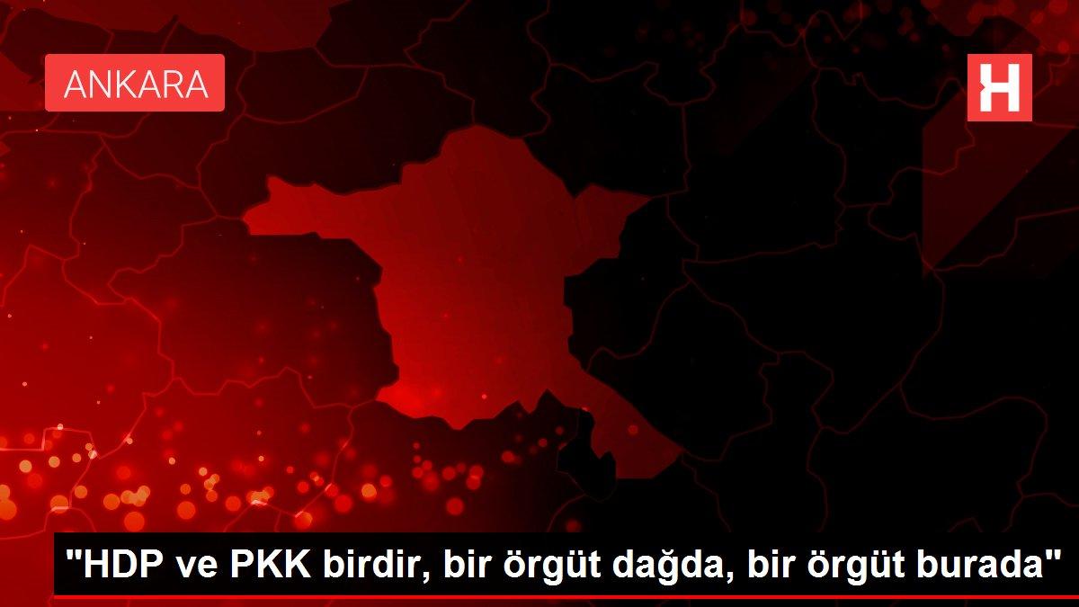 HDP ve PKK birdir, bir örgüt dağda, bir örgüt burada