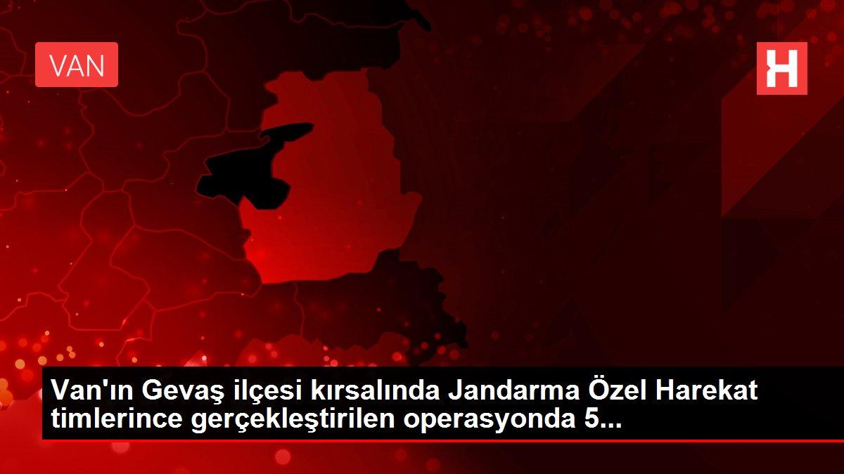 Van'ın Gevaş ilçesi kırsalında Jandarma Özel Harekat timlerince gerçekleştirilen operasyonda 5...