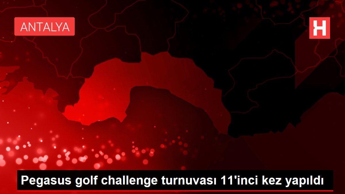 Pegasus golf challenge turnuvası 11'inci kez yapıldı
