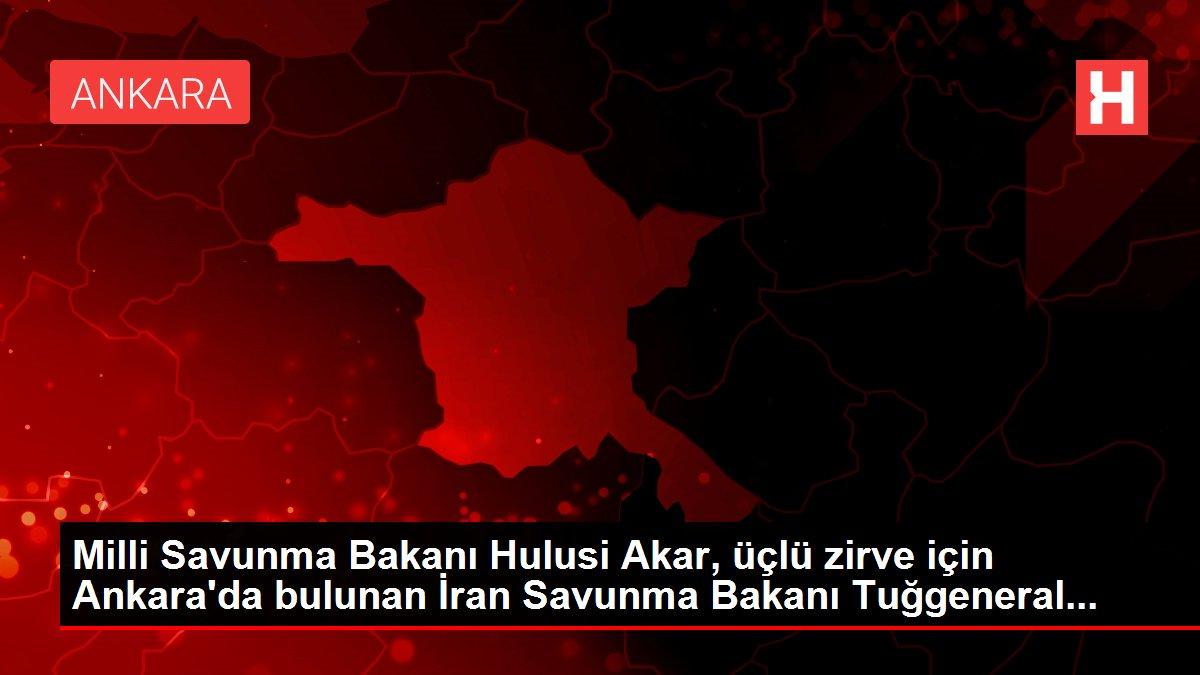 Milli Savunma Bakanı Hulusi Akar, üçlü zirve için Ankara'da bulunan İran Savunma Bakanı Tuğgeneral...