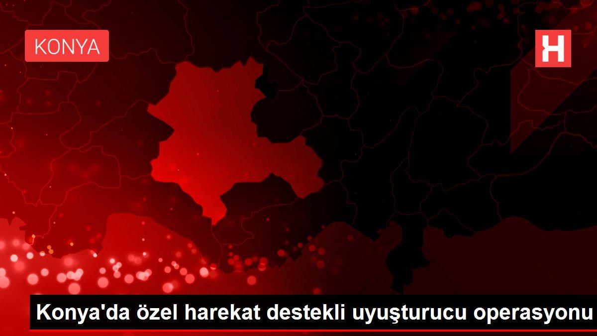 Konya'da özel harekat destekli uyuşturucu operasyonu