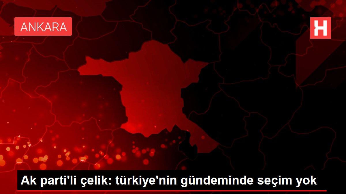 Ak parti'li çelik: türkiye'nin gündeminde seçim yok
