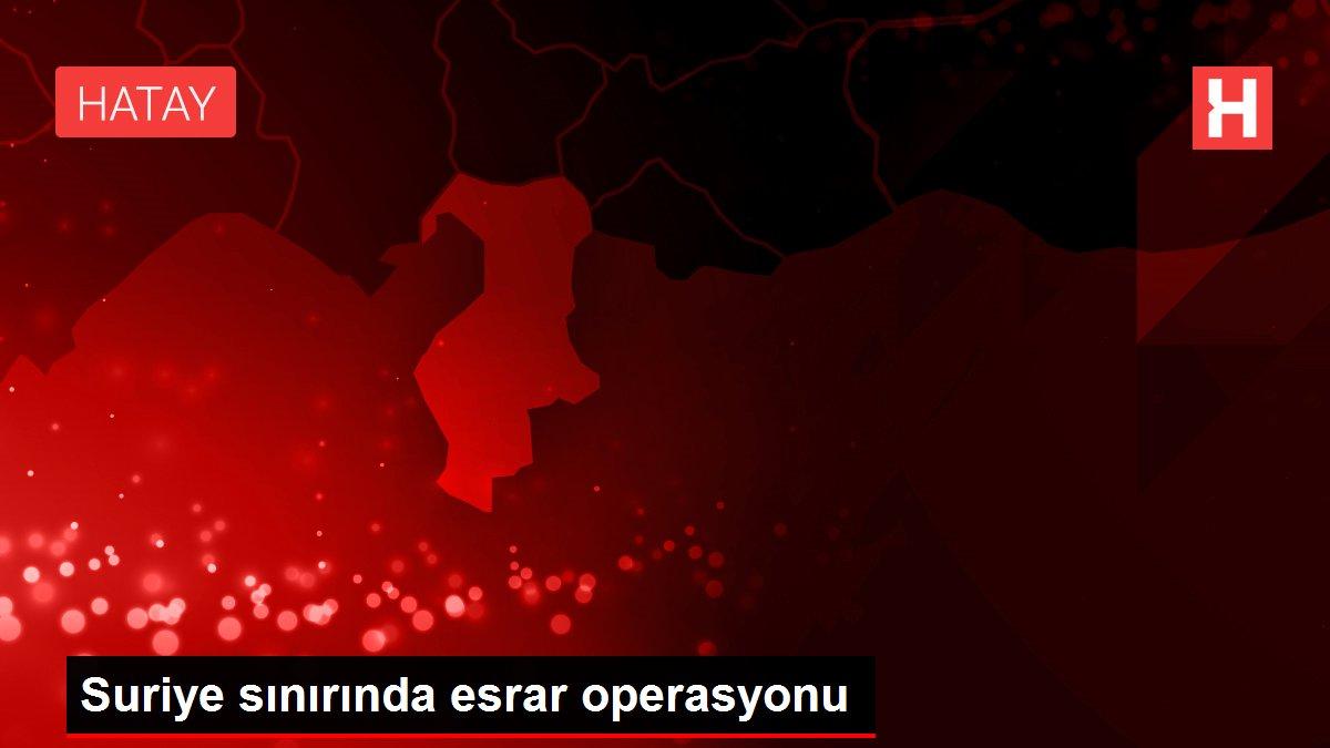 Suriye sınırında esrar operasyonu