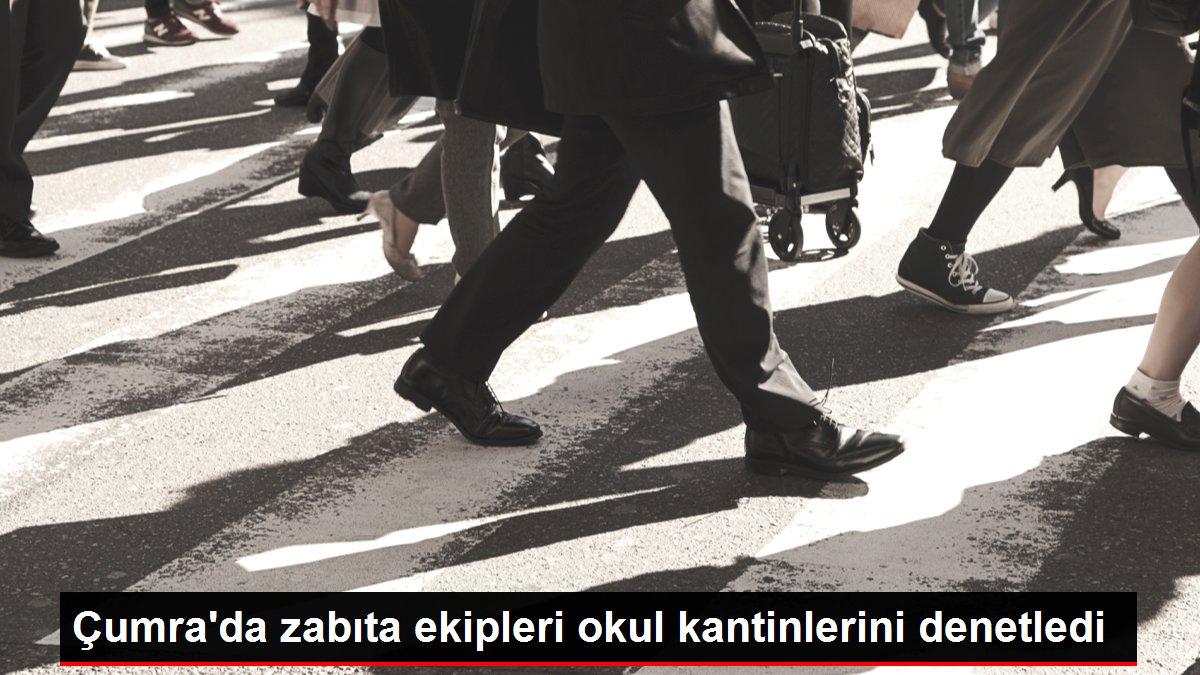 Çumra'da zabıta ekipleri okul kantinlerini denetledi