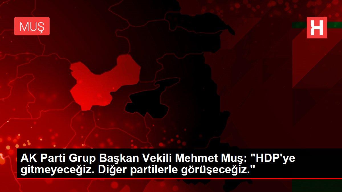 AK Parti Grup Başkan Vekili Mehmet Muş: