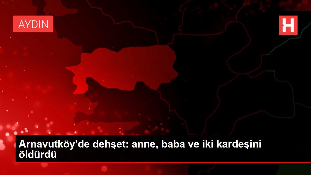 Arnavutköy'de dehşet: anne, baba ve iki kardeşini öldürdü