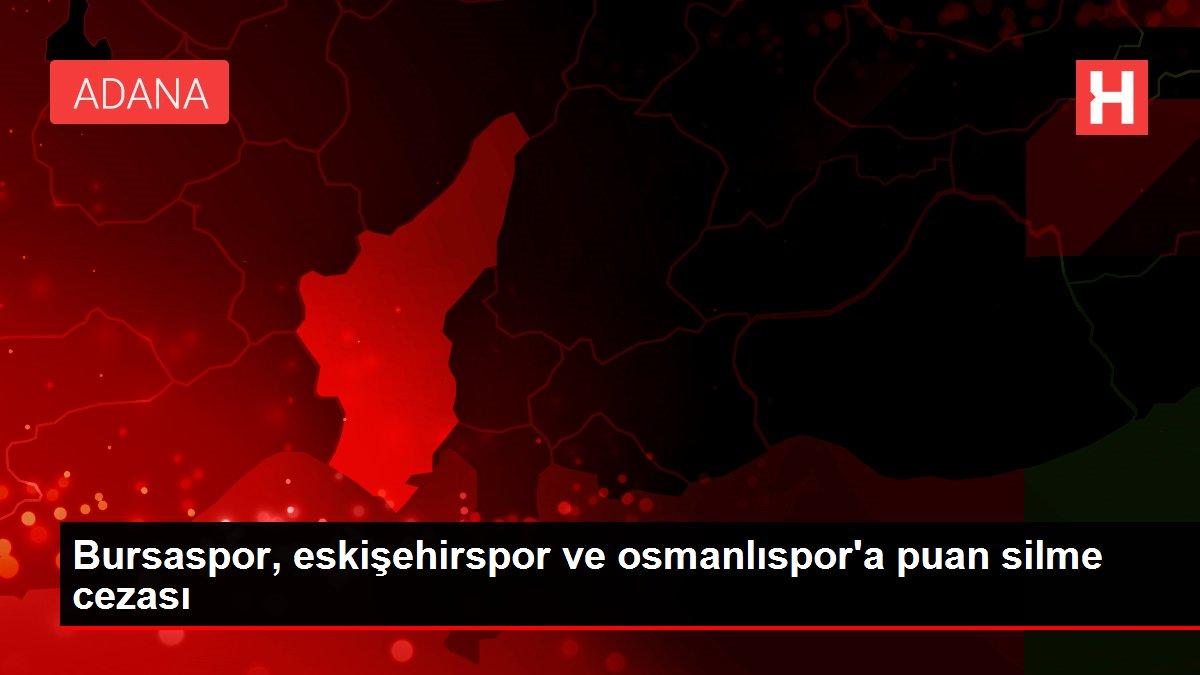 Bursaspor, eskişehirspor ve osmanlıspor'a puan silme cezası