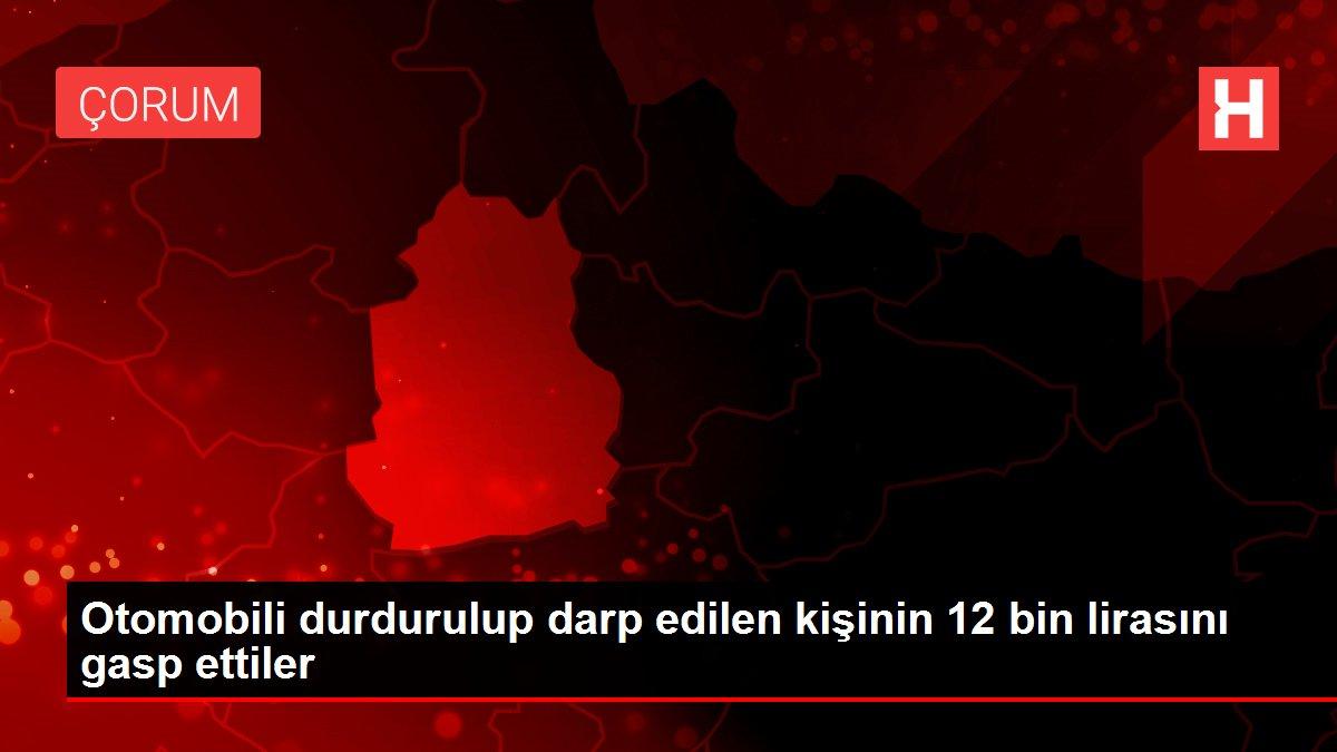 Otomobili durdurulup darp edilen kişinin 12 bin lirasını gasp ettiler