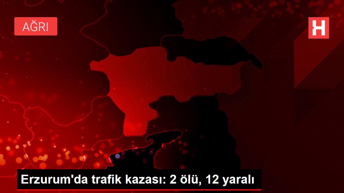 Erzurum'da trafik kazası: 2 ölü, 12 yaralı