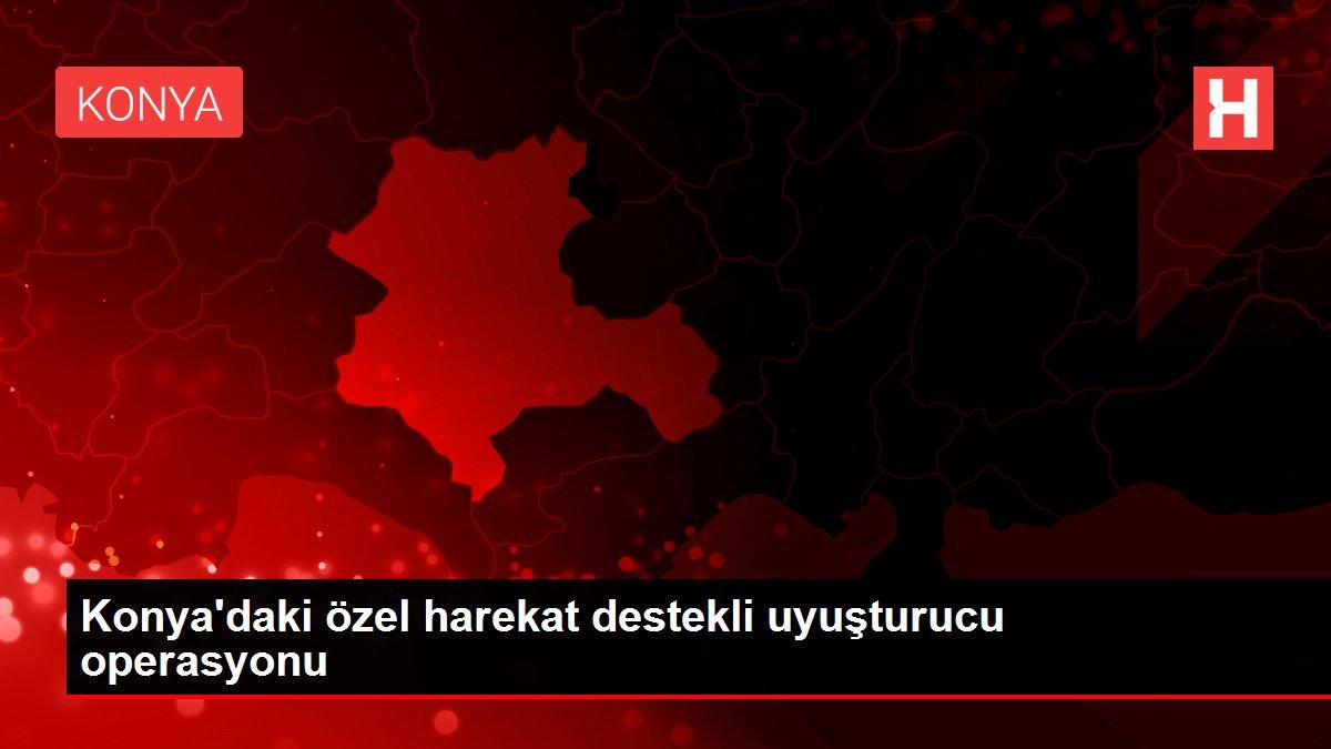 Konya'daki özel harekat destekli uyuşturucu operasyonu