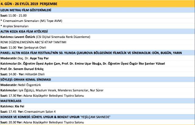26 Adana Altin Koza Film Festivali Basladi Altin Koza Film