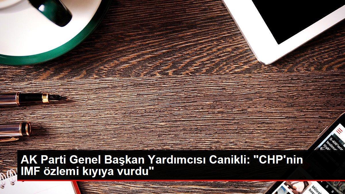 AK Parti Genel Başkan Yardımcısı Canikli: 'CHP'nin IMF özlemi kıyıya vurdu'