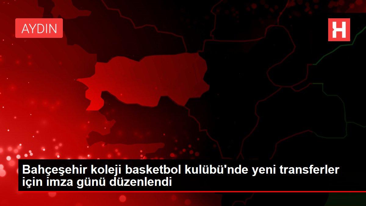 Bahçeşehir koleji basketbol kulübü'nde yeni transferler için imza günü düzenlendi