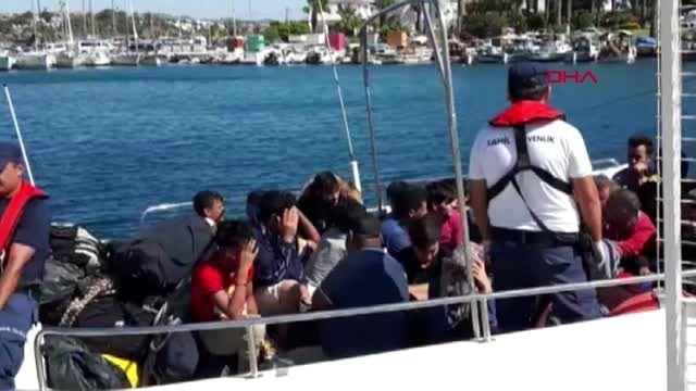 Muğla datça'da 48 kaçak göçmen yakalandı