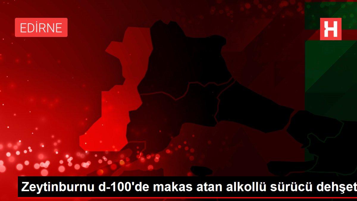 Zeytinburnu d-100'de makas atan alkollü sürücü dehşeti