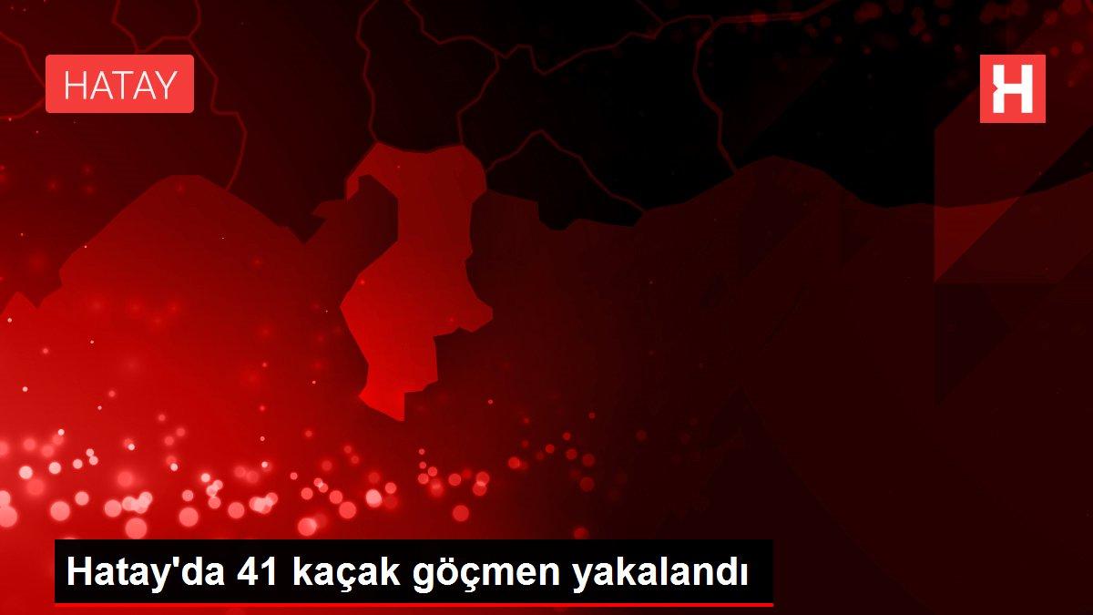 Hatay'da 41 kaçak göçmen yakalandı