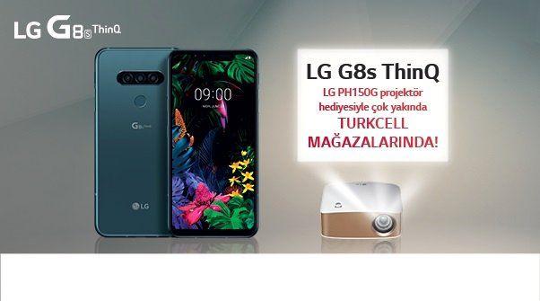 LG G8s ThinQ alana LG Projektör Hediye