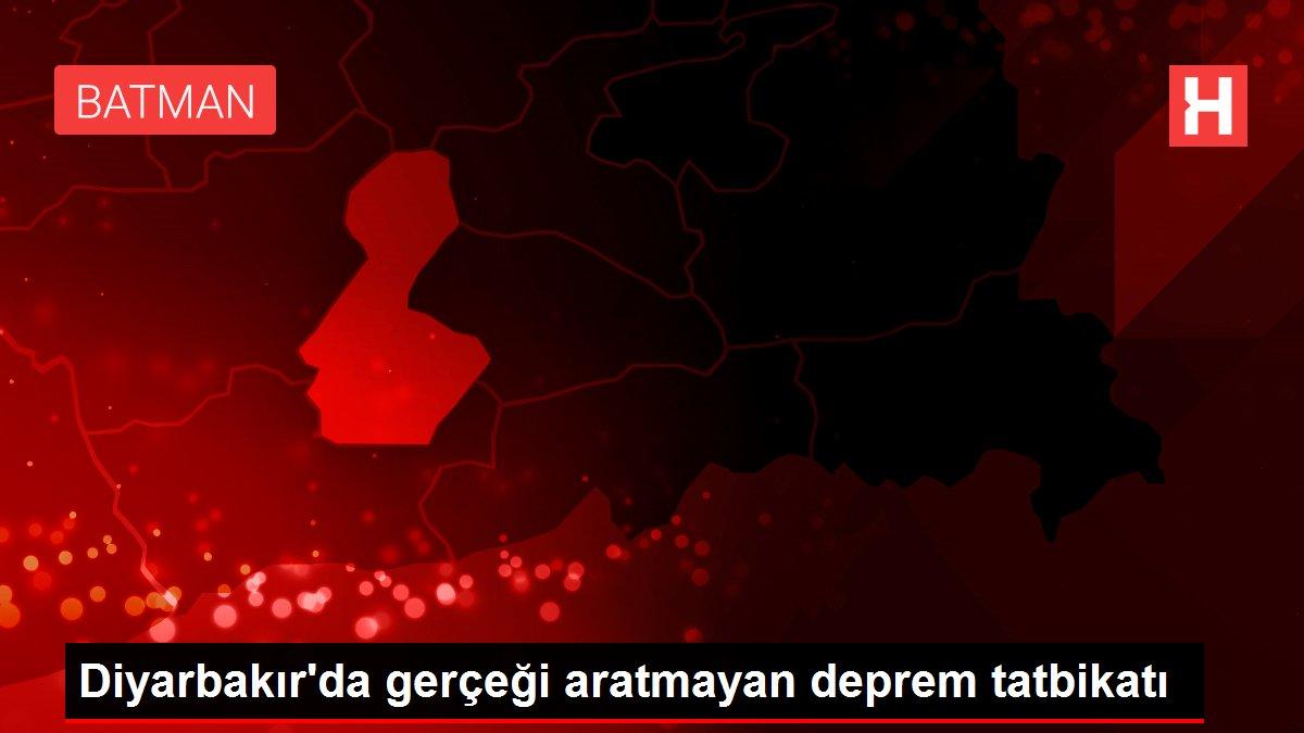 Diyarbakır'da gerçeği aratmayan deprem tatbikatı