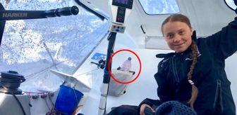 Çevreci Greta'nın fotoğrafındaki pet şişe detayı büyük tepki çekti