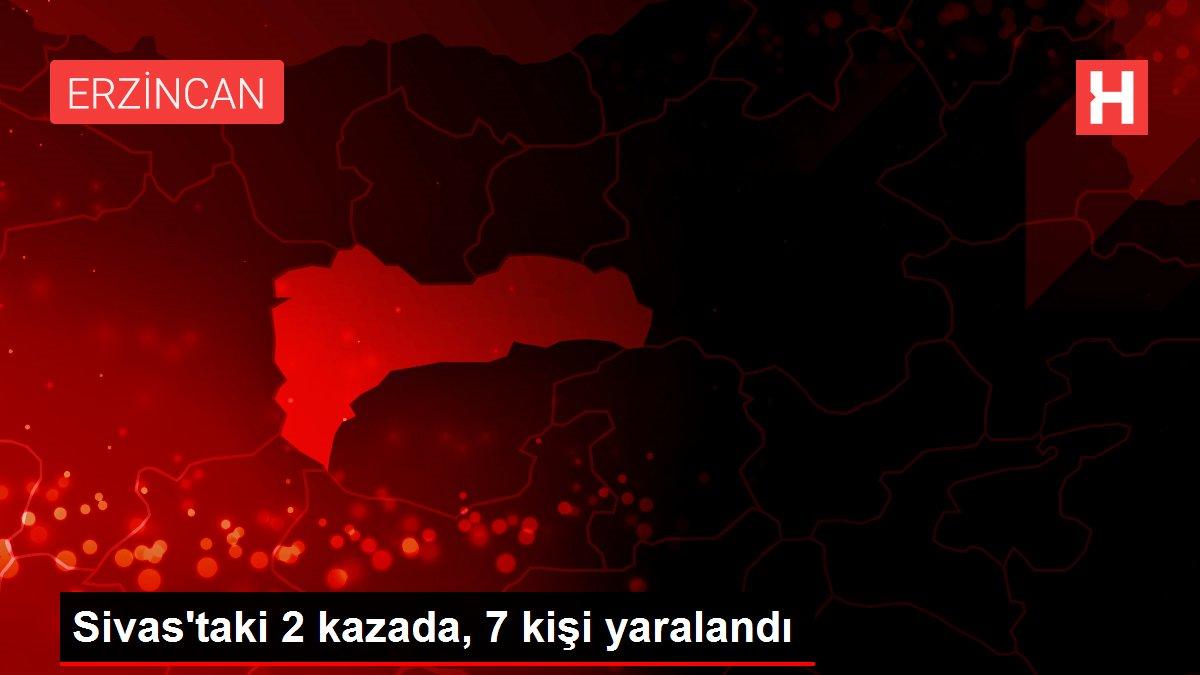 Sivas'taki 2 kazada, 7 kişi yaralandı