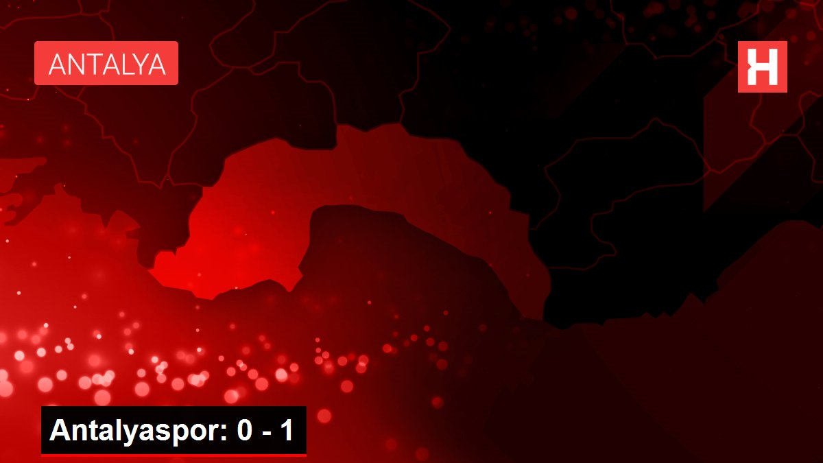 Antalyaspor: 0 - 1