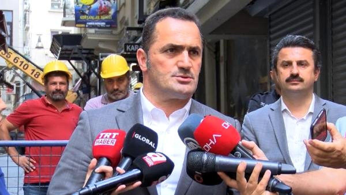 Beyoğlu'nda çökme tehlikesi yaşayan bina için yıkım kararı