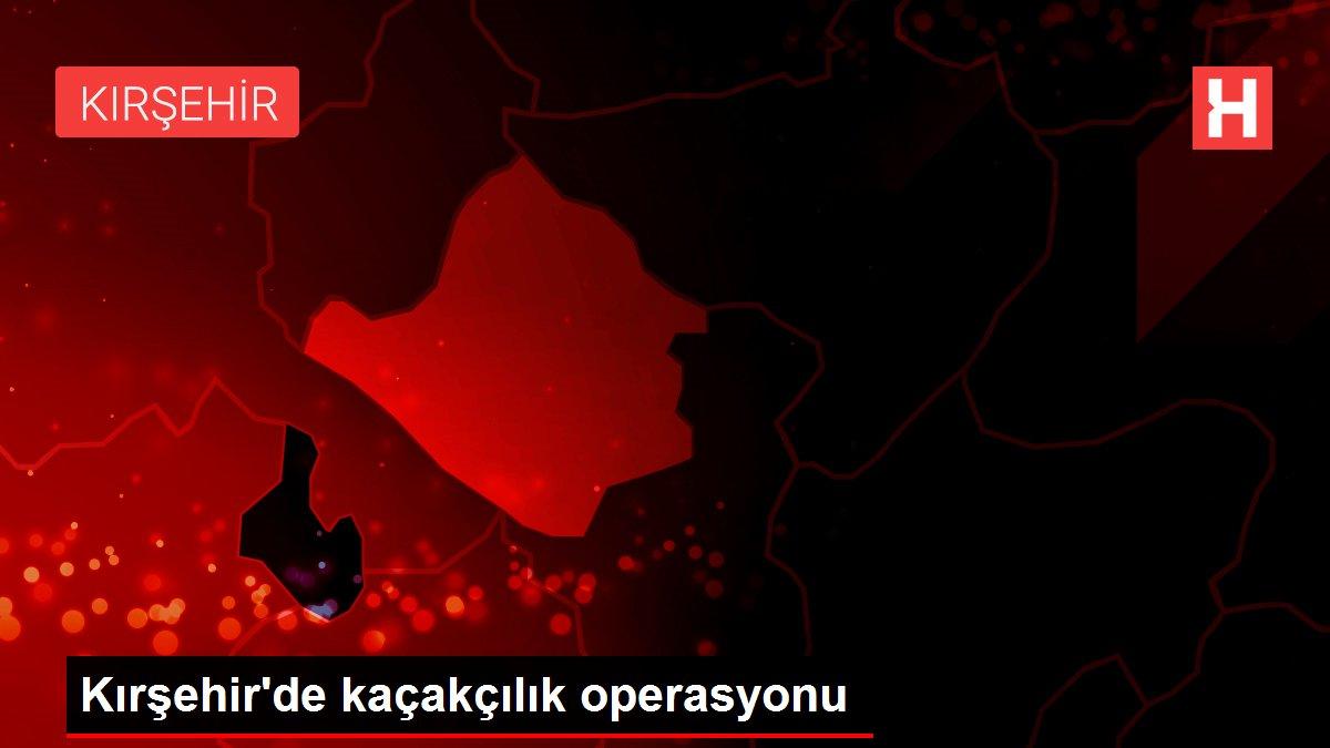 Kırşehir'de kaçakçılık operasyonu