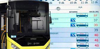 İkitelli: Otobüs duraklarında yer alan ekranlardaki hatalar, vatandaşı isyan ettirdi
