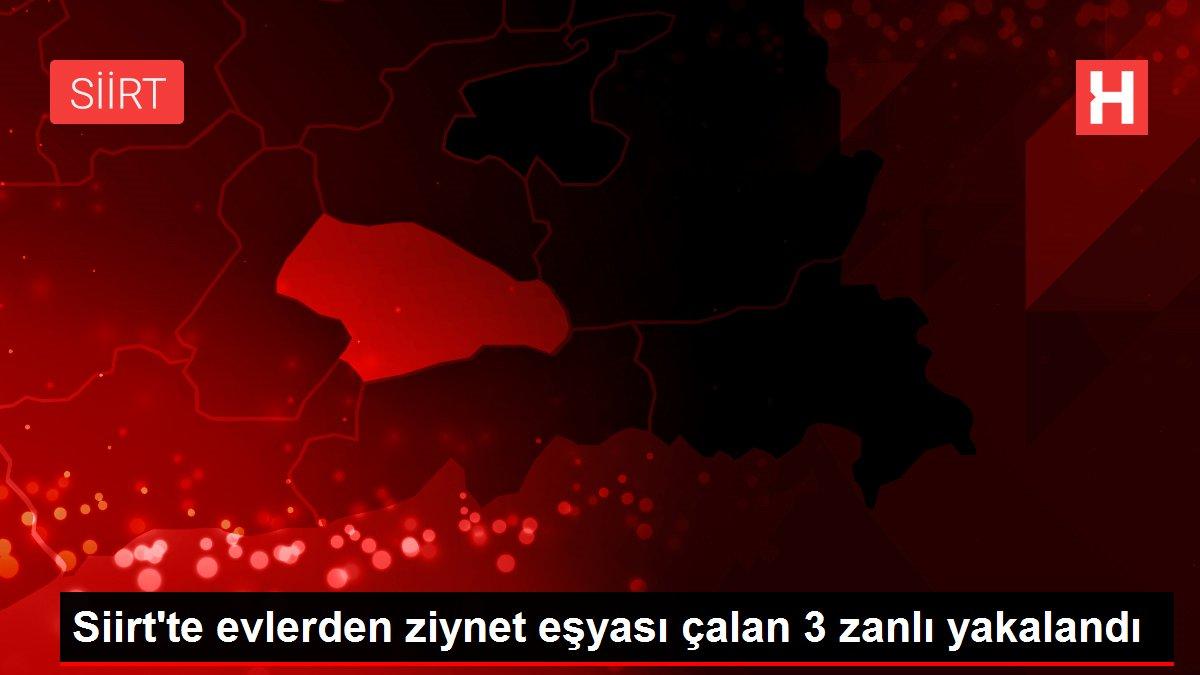 Siirt'te evlerden ziynet eşyası çalan 3 zanlı yakalandı