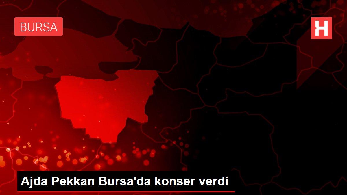 Ajda Pekkan Bursa'da konser verdi