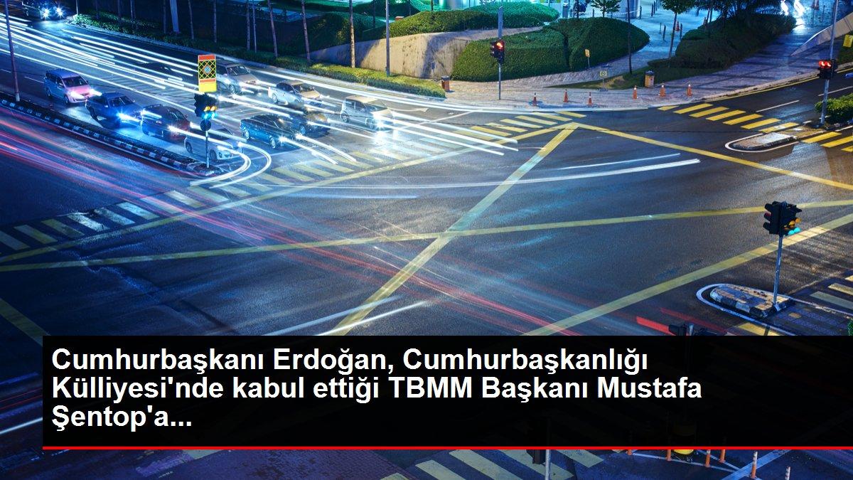 Cumhurbaşkanı Erdoğan, Cumhurbaşkanlığı Külliyesi'nde kabul ettiği TBMM Başkanı Mustafa Şentop'a...