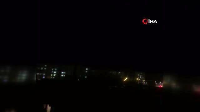 Kamışlı'dan atılan roket Nusaybin'e böyle düştü