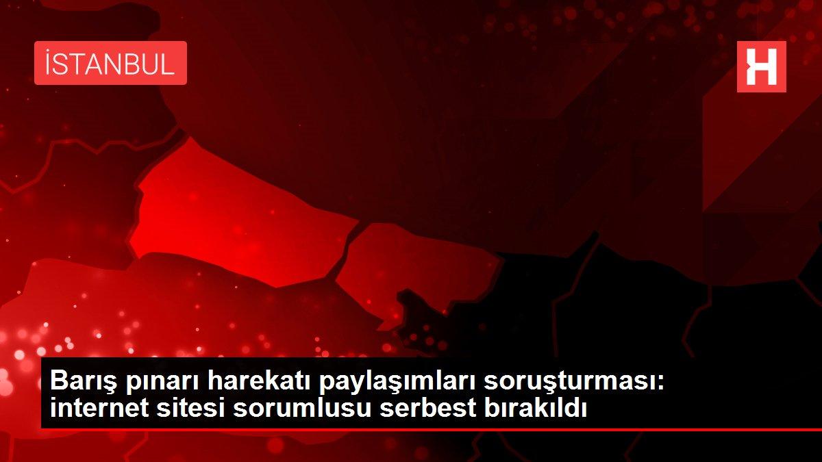 Barış pınarı harekatı paylaşımları soruşturması: internet sitesi sorumlusu serbest bırakıldı