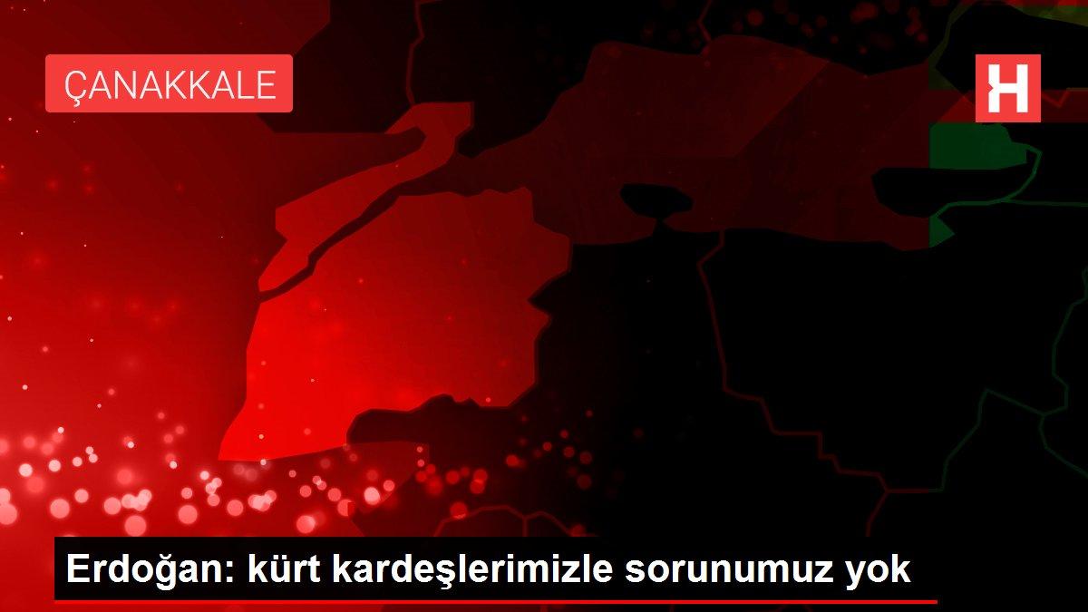 Erdoğan: kürt kardeşlerimizle sorunumuz yok