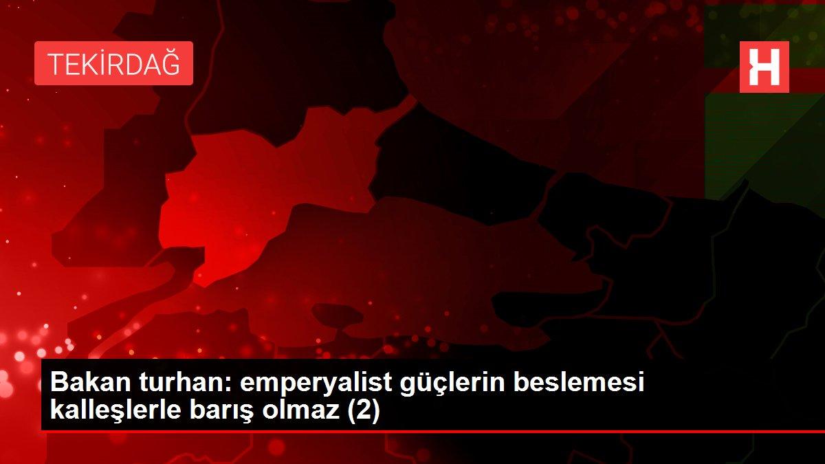Bakan turhan: emperyalist güçlerin beslemesi kalleşlerle barış olmaz (2)