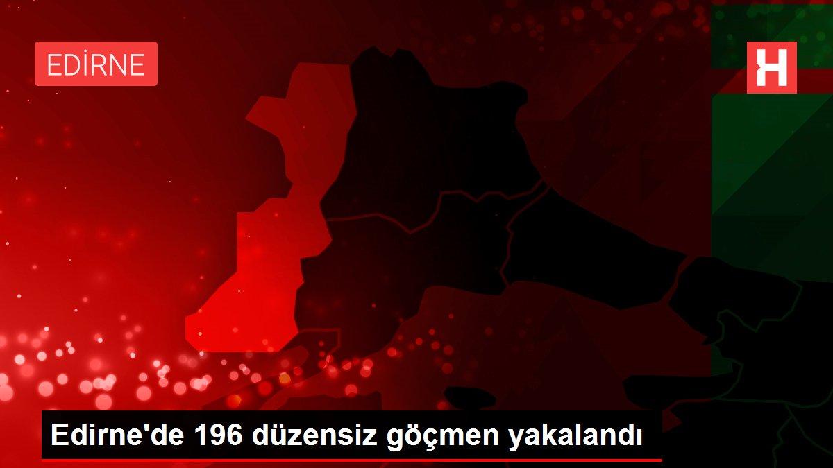 Edirne'de 196 düzensiz göçmen yakalandı
